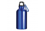 400 ML Aluminium Water Bottle With Carabiner Clip - Royal Blue