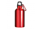 400 ML Aluminium Water Bottle With Carabiner Clip - Red