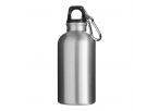 400 ML Aluminium Water Bottle With Carabiner Clip - Silver