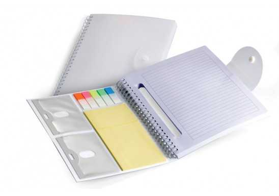 Multi Use Notebook with clip closure
