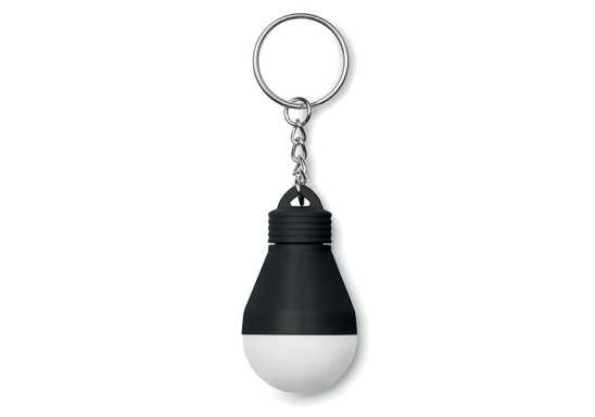 Light Bulb Keyring - Black