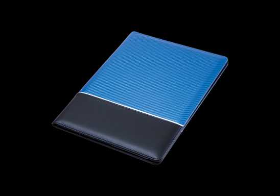 A4 Carbon Fibre Design Folder - Blue