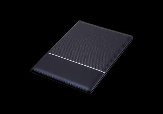 A4 Carbon Fibre Design Folder - Black