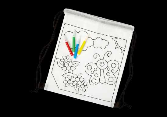 Kids Colouring In Drawstring Bag