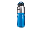 800ml Sports Water Bottle with Foldable Drinking Spout - Blue