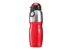 800ml Sports Water Bottle with Foldable Drinking Spout - Red