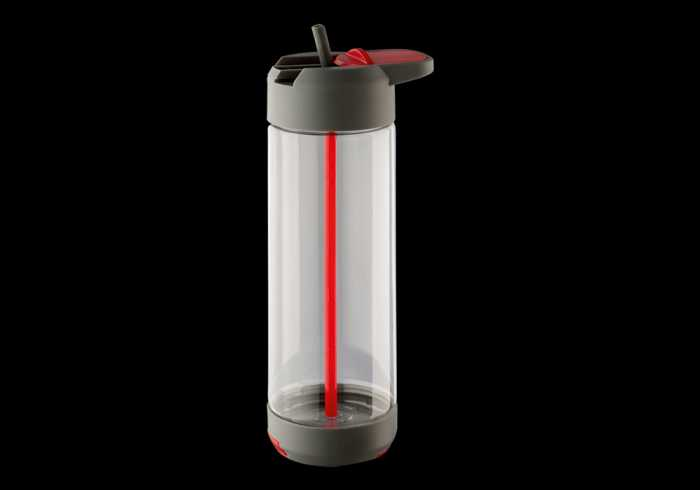 700ml Tritan Water Bottle With Phone Holder - Red
