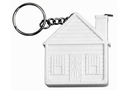 House Shaped Tape Measure Keyring