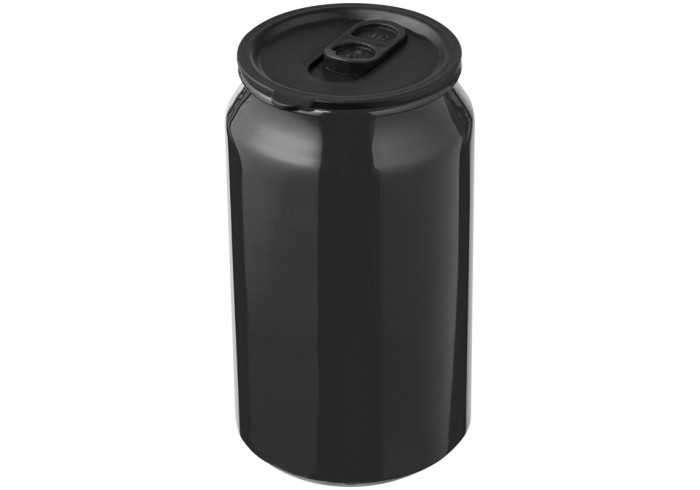 Can Shaped Drinking Tin - Metallic Look - Black