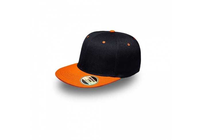 Snapback Two-Tone - Black/Orange