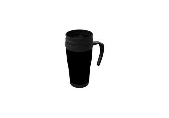 Plastic Travel Mug - Black