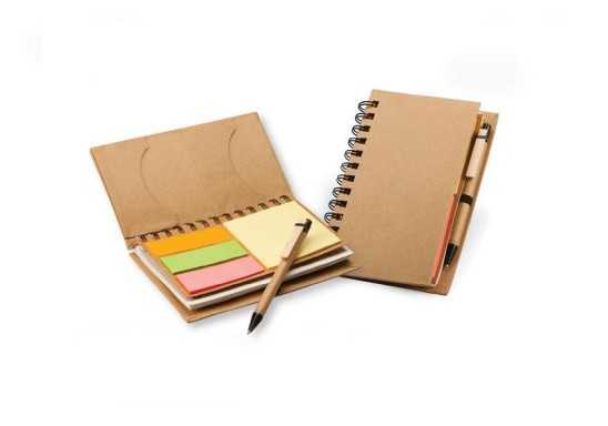 Eco Notebook with Sticky notes & Pen