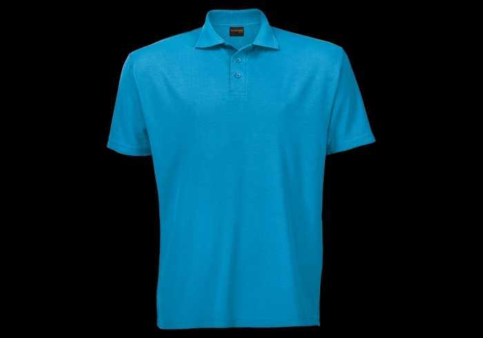 Barron Pique Knit Golfer - Surf Blue