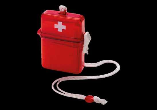 Waterproof First Aid kit in plastic case
