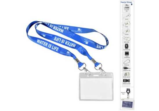 Dye Sublimation Open Lanyard +Pouch