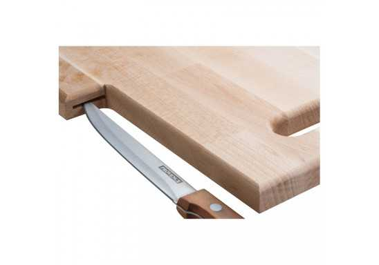 Beech Tree Wooden Chopping Board With Built In Knife