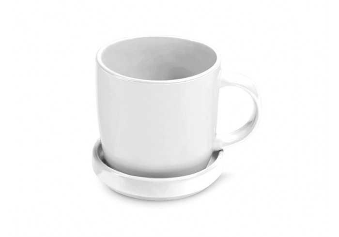 Enjoy Sub Mug & Coaster - White