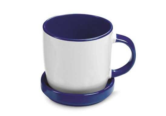 Enjoy Sub Mug & Coaster - Blue