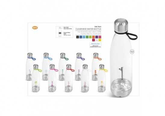 Clearview Water Bottle - Cyan