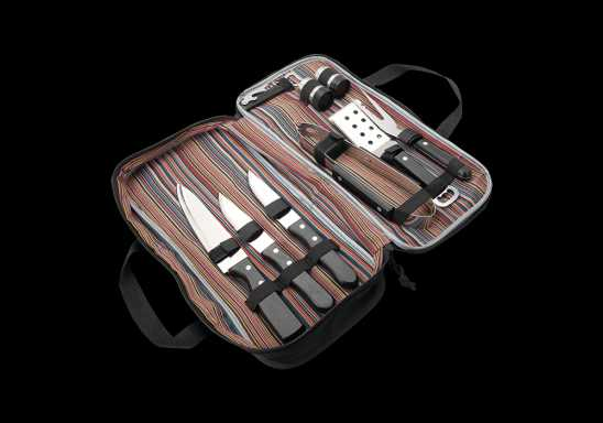 9 Piece Tribal Stripe BBQ Set