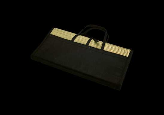 Straw Mat - Black