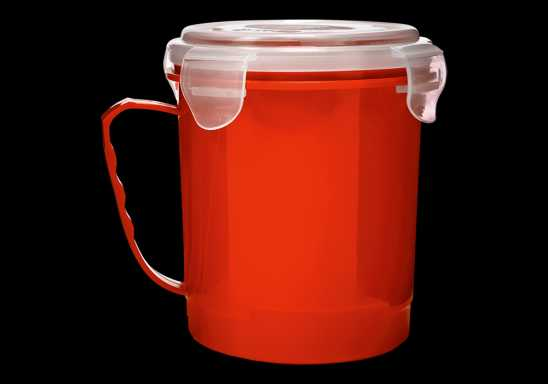 720ml Microwaveable Mug - Red