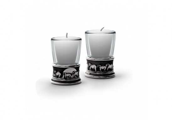 Elephant Candle & Shot Glasses