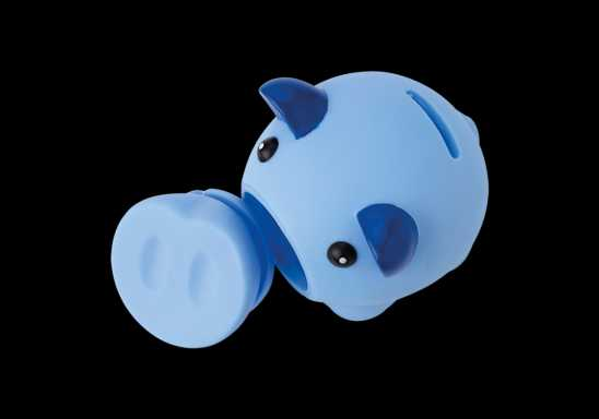 Piggy Bank With Nose Stopper - Blue