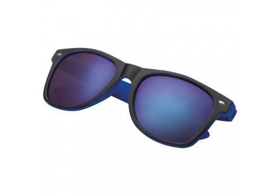 Plastic Black Sunglasses With Colour Accents - Blue
