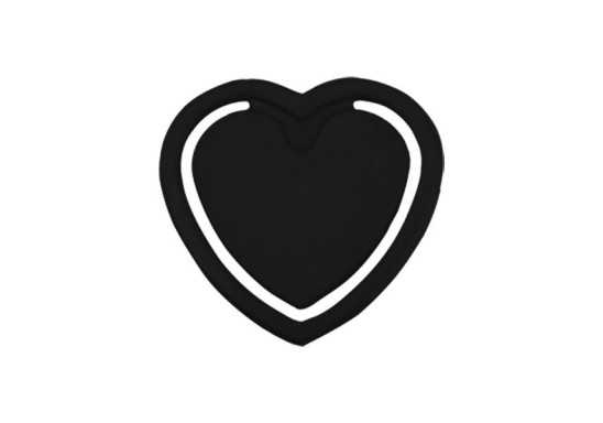 Mini Heart Bookmark - Black