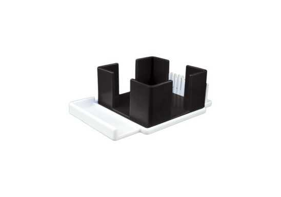Pen & Paper Cube Holder - Black