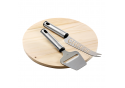 Wooden Cheese Board With Knife and Slicer