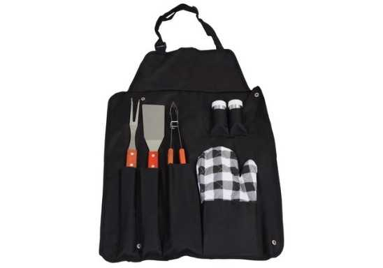 Wooden Braai Set Apron