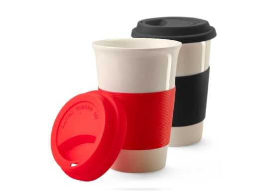 Ceramic Mug with Silicone Grip