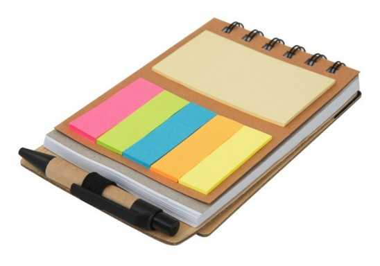 Wood Pocket Notepad, Sticky Memo & Pen