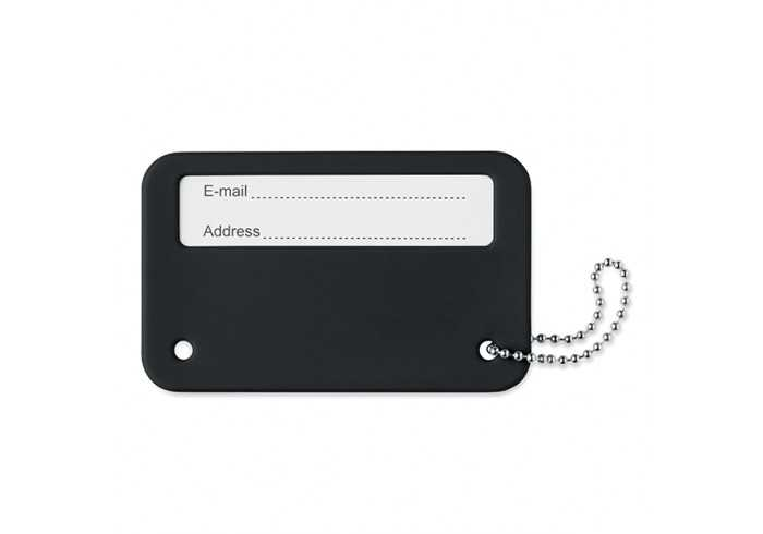 Travel Identity Tag - Black