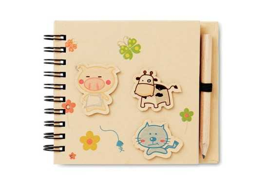 Kiddies Notepad & Pencil