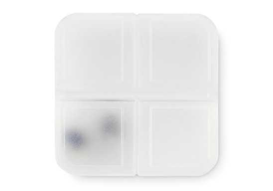 Pill Box - Clear Frosted White