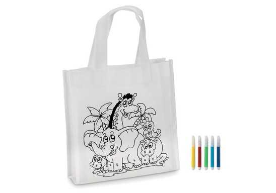 Mini Kiddies Shopper - White