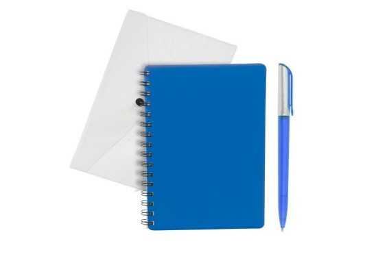 PVC Conference Notebook Set - Blue