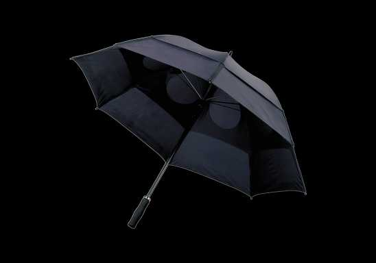Storm Proof Vented Umbrella - Black