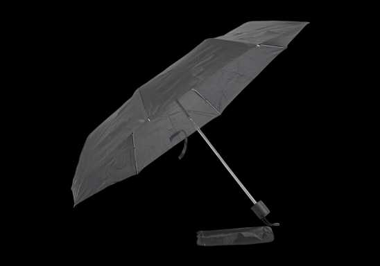 Foldable Umbrella With Metal Frame - Black