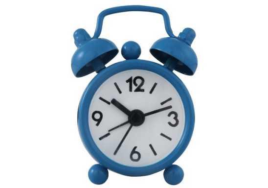 Mini Twin Bell Alarm Clock - Light Blue