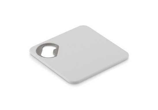 Zing Coaster & Bottle Opener - White