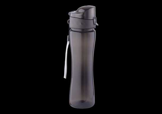 500ml Colourful Flip Top Water Bottle - Black