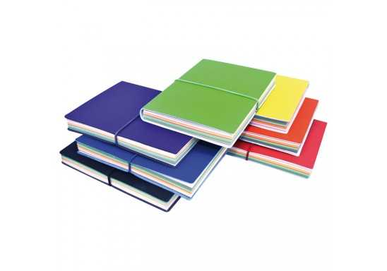 Journal with multi-coloured pages