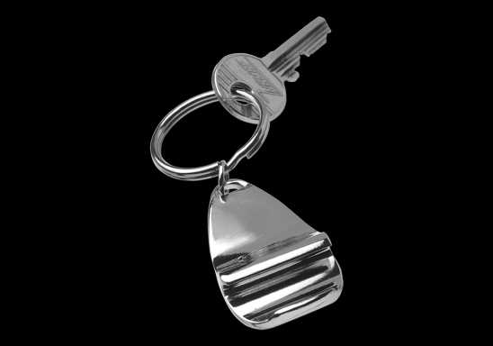 Stylish Metal Bottle Opener Keychain