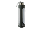 600ml Silicone Grip Water Bottle With Carry Strap - Charcoal