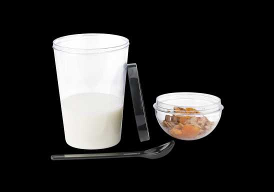 Dual Compartment Breakfast Mug with Spoon