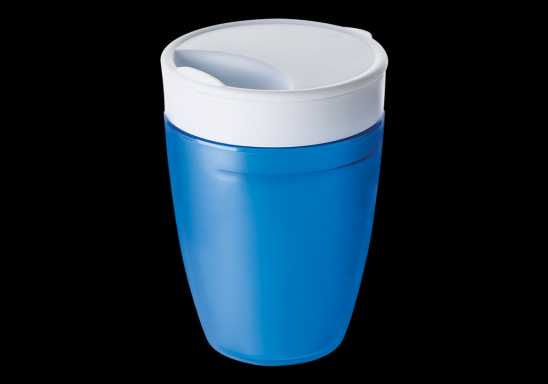 2 in 1 Plastic Mug - Blue